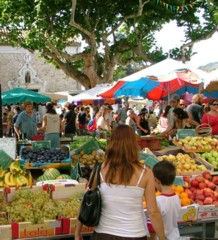 Esperaza market in Aude, South France