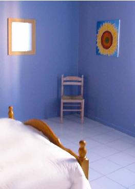 Bedroom of beautifully decorated holiday apartment in Department 11, Languedoc-Roussillon