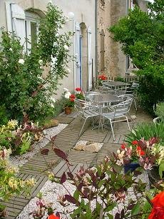 Pretty terrace of holiday apartments in Couiza, Aude, Languedoc Roussillon