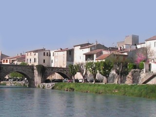Town of Limoux in South France