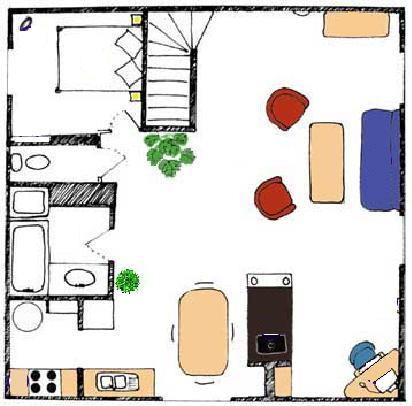 2nd             floor plan - holiday villa in Aude, Southern France